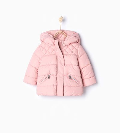 Quilted jacket with hood-Coats-Baby girl-Baby   3 months - 3 years-KIDS   ZARA United States. $29.99