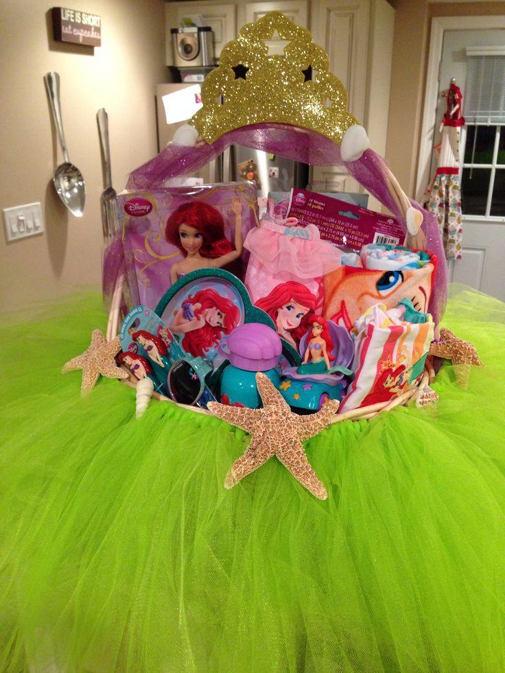 Hannah's third Easter basket. Disney's The Little Mermaid