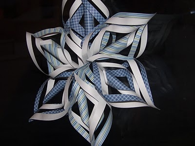 3-D Snowflakes use with winter bulletin boards