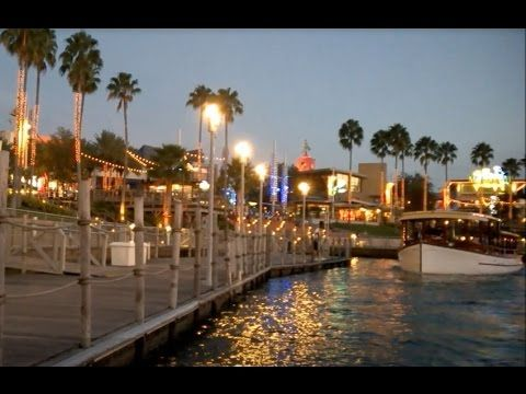 Water Taxi to Portofino Bay Hotel at Dusk