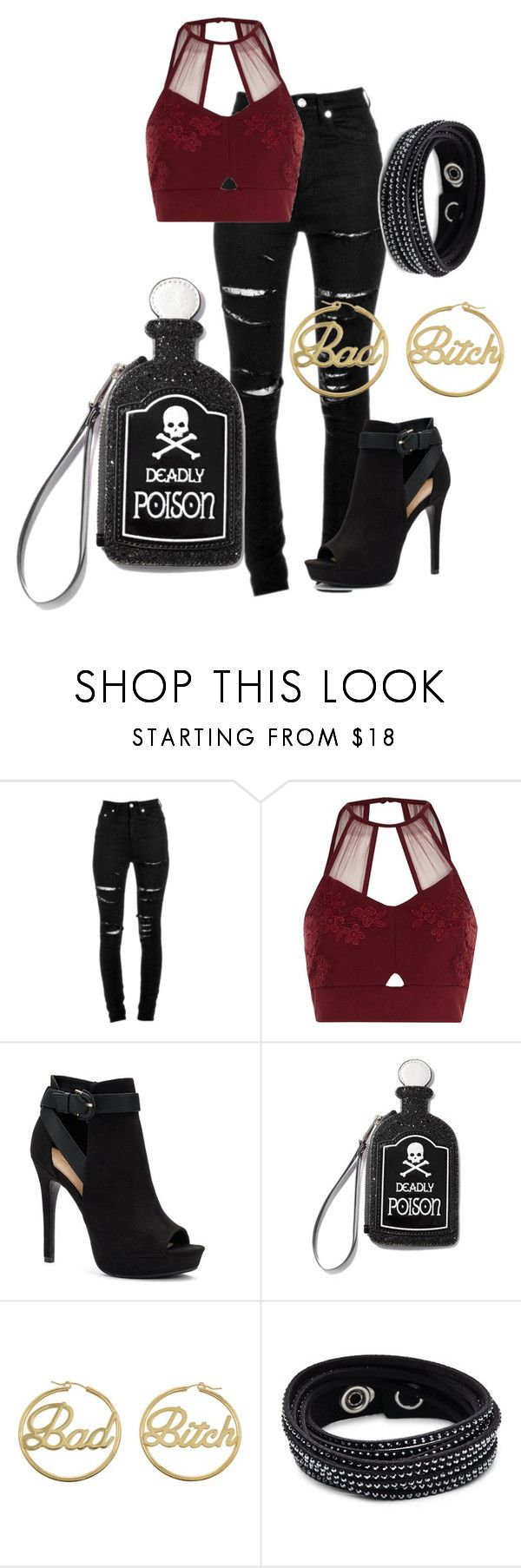 """Night out"" by caitlintol on Polyvore featuring Yves Saint Laurent, River Island, Apt. 9, Current Mood, me you and Swarovski"