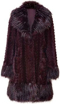 Anna Sui Merlot Faux Fur Coat on shopstyle.com