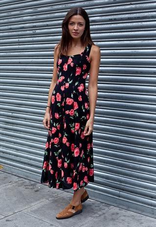 Vintage 90's floral midi dress  £35