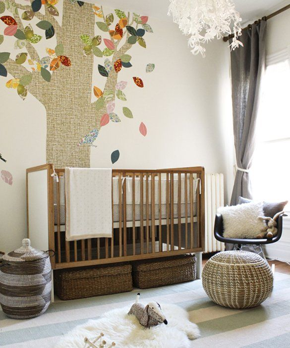 Top It Off... Will definitely be utilizing this idea and putting lidded baskets under the crib in our nursery