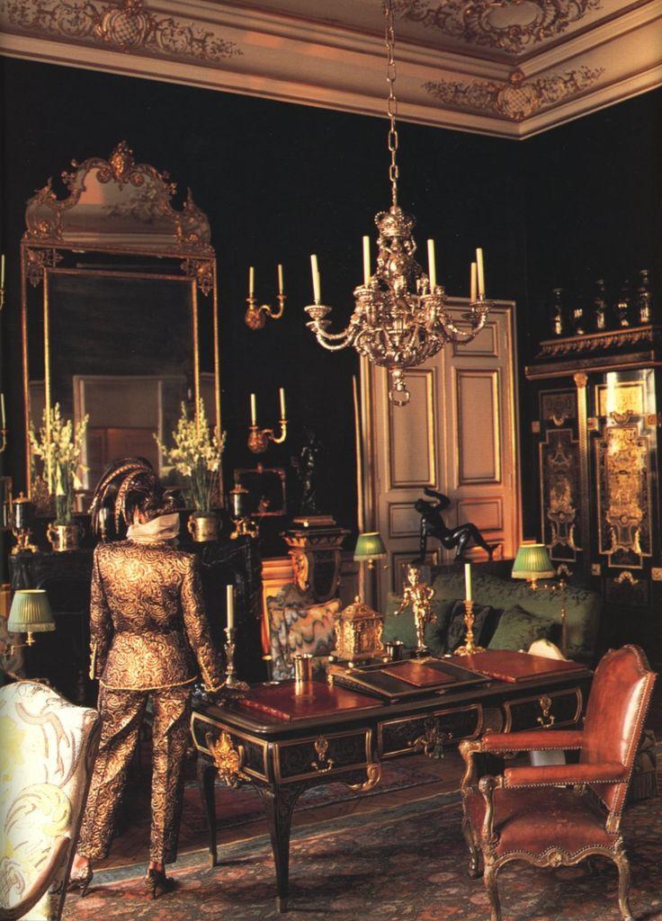 The 18th century paris hubert de givenchy 39 s town house on for Pareti salone