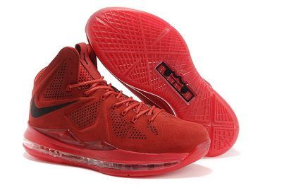 Nike Lebron 10 2013 Official Correct Version Red Black Running Shoes, cheap  Nike Lebron If you want to look Nike Lebron 10 2013 Official Correct  Version Red ...
