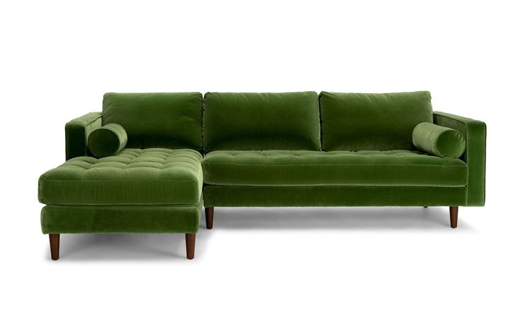 "When it comes to comfort, the L shape is hard to beat. Just imagine long indulgent Sundays sprawled out on the grassy green velvet upholstery - I mean, why go outdoors when you can bring the best of outside in?    Sven in Grass Green, $2,199 from [link url=""https://www.article.com/product/1547/sven-grass-green-left-sectional-sofa""]article.com[/link]"
