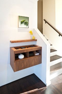 Clever built in hallway nook.