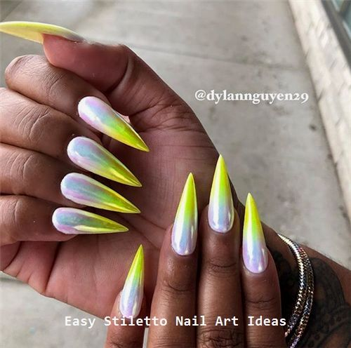 30 große Stiletto Nail Art Design-Ideen # Stilettonails – Make Up