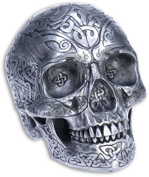 81 best images about skulls on pinterest girly skull for Celtic skull tattoo