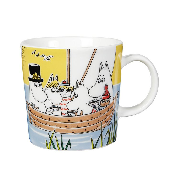 Moomin Mug Sail With Niblings and Too-Ticky - Tove Slotte-Elevant - Arabia - RoyalDesign.com