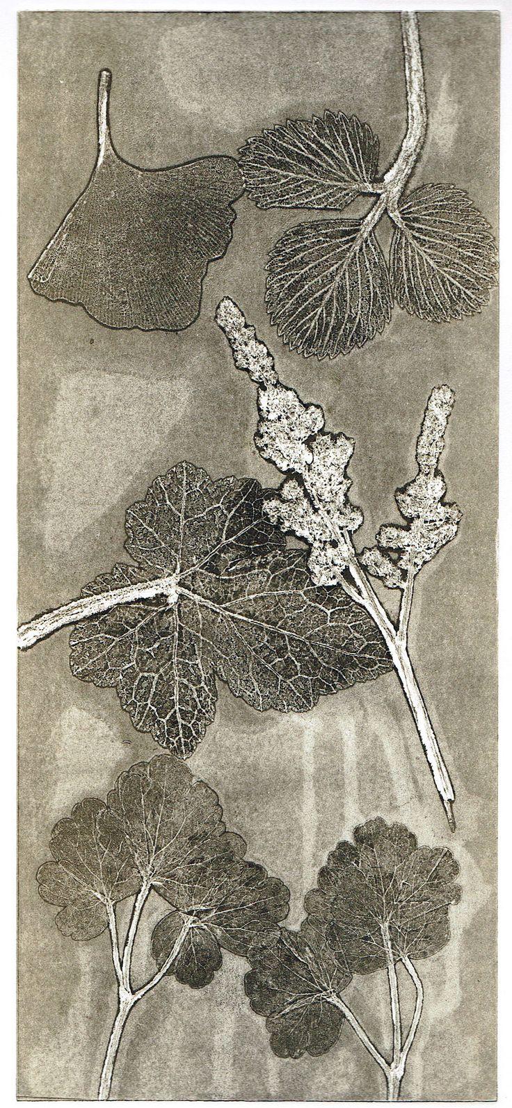 Nature print, ghost print