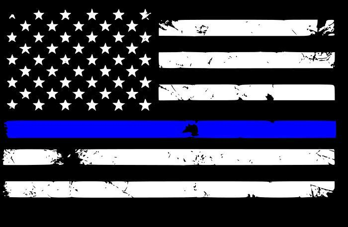Police,Military,FIRE Thin Blue Line Horizontal Flag DISTRESSED Flag Firefighter