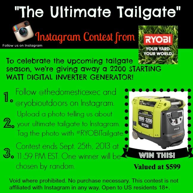 Power Up Anywhere With The RYOBI Inverter Generator {Giveaway}