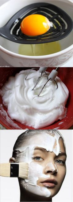 Masque astringent maison : Battez un blanc d'oeuf en neige et ajoutez-y quelques gouttes de jus de citron. Appliquez sur le visage, puis enlevez le masque séché avec un coton imbibé de jus de citron. Rincez à  l'eau fraiche pour resserrer les pores. / Home-made astringent face mask: Whisk one egg white. Stir in a few drops of lemon juice and apply on clean and dry skin. Once the mask is dry, remove with makeup pad soaked with lemon juice. Rinse with fresh water to optimize pore-tightness.