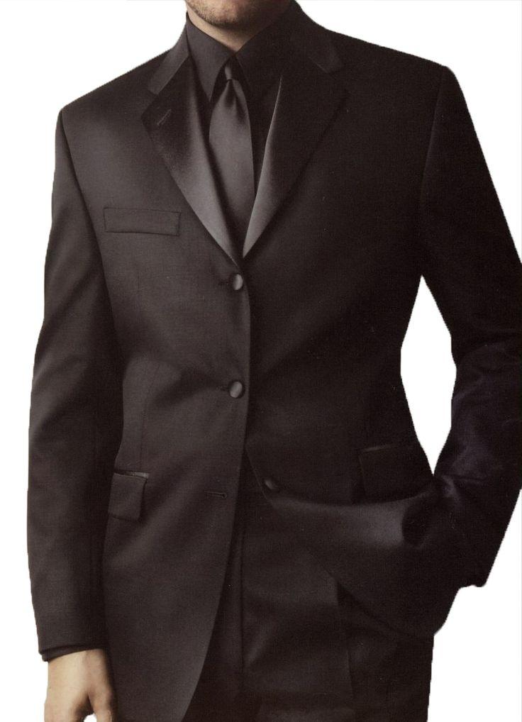Black on Black Suit