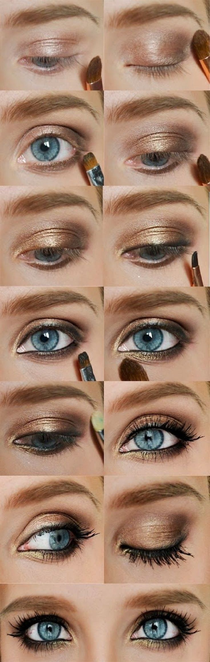 makeup tutorial for blue eyes and brown hair   saubhaya makeup
