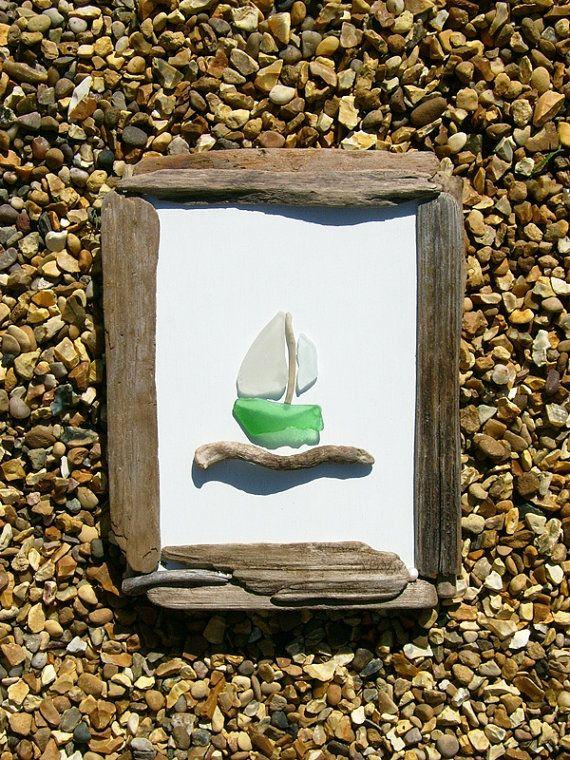 Cuadro de cristal flotante y el mar por JulieHoranArt en Etsy