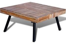 Soffbord i återvunnet teak fyrkantig