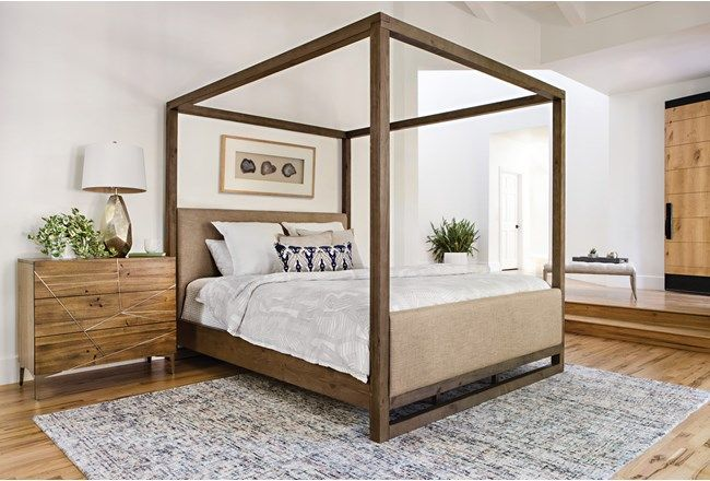 Nelson California King Canopy Bed - 360