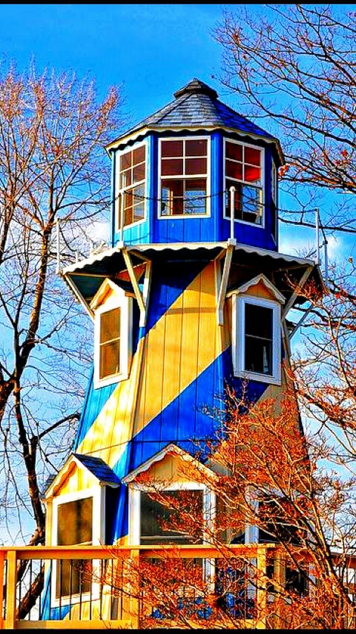 This looks like it could be a lighthouse playhouse for my Grandbabies!