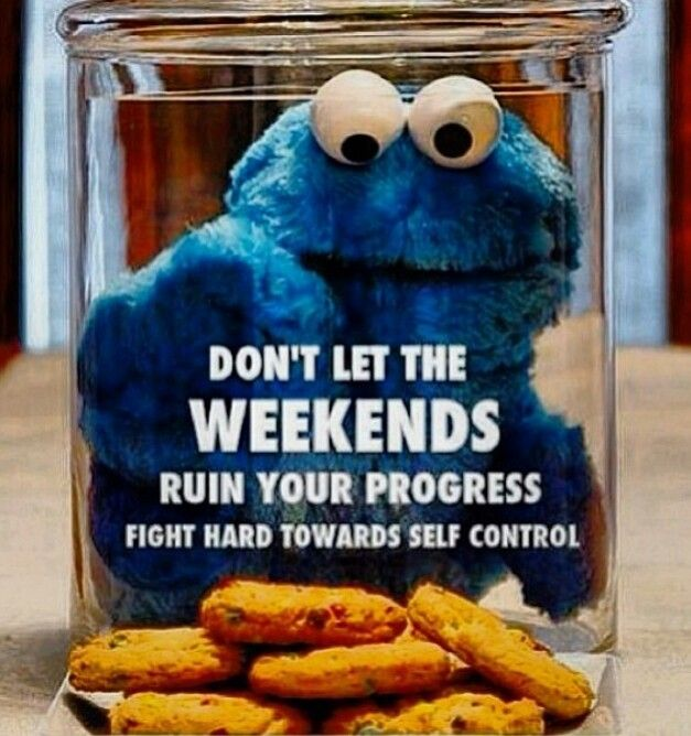 Try to anticipate what obstacles you will face during the weekend and plan ahead to avoid ruining your hard-earned progress!