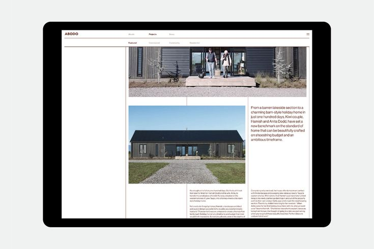 Website design by Richards Partners for NZ timber specialists Abodo