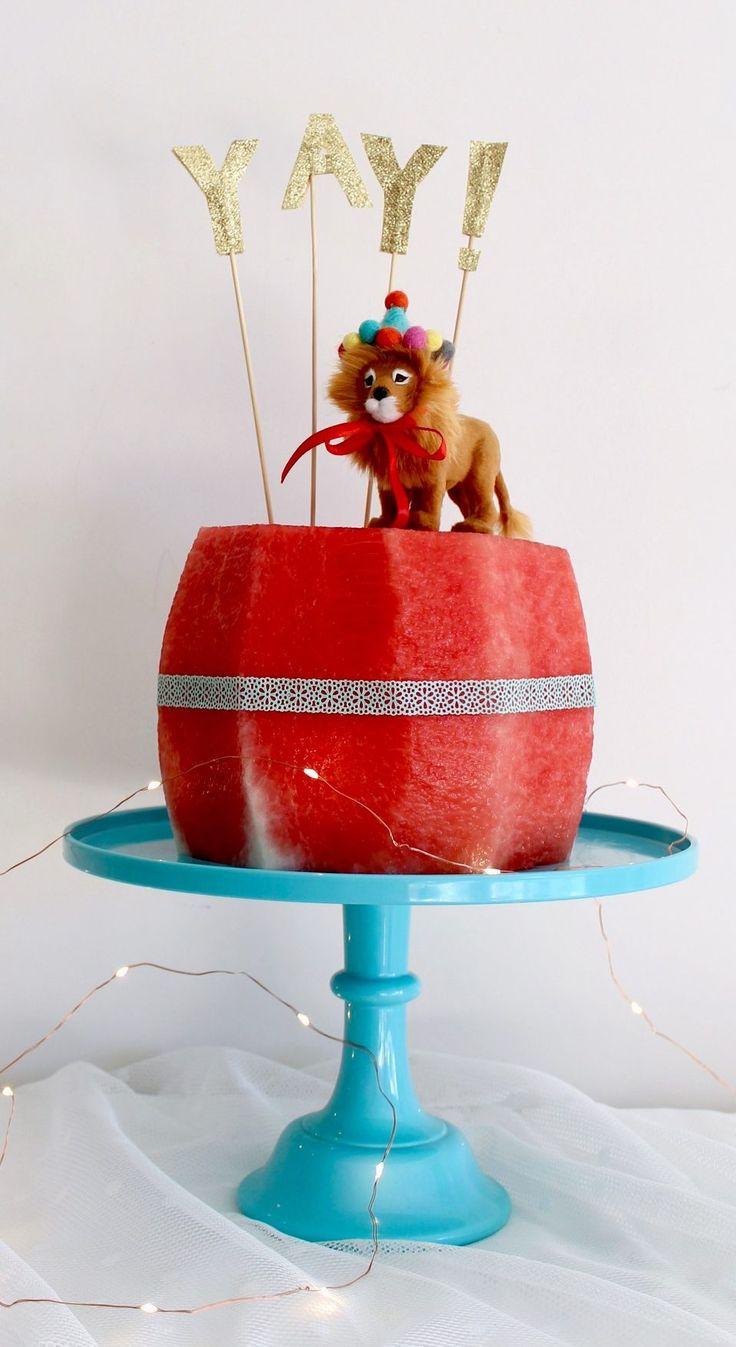 Watermelon birthday cake | kids party ideas