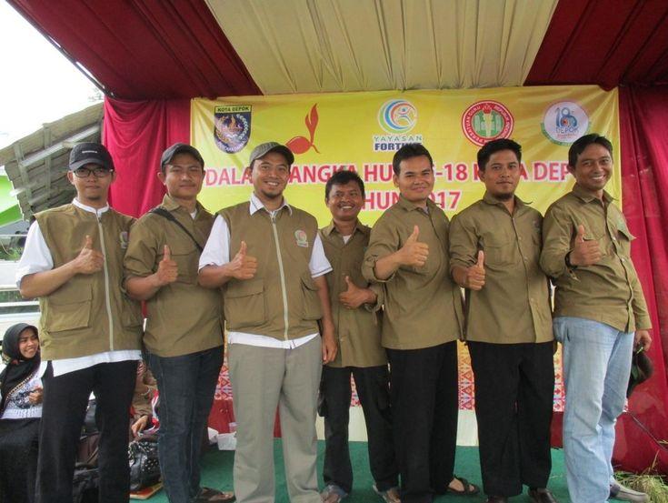 Rayakan HUT Kota Depok Ke 18, Yayasan Fortune Gandeng Pramuka dan PGRI Kec. Tapos