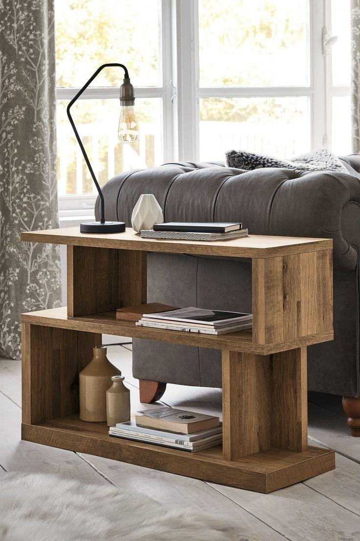Next Bronx Sofa Side - Natural | Living room side table ...