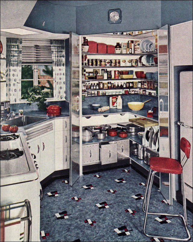 1940s decorating style maison ann es 30 40 pinterest ann es 30 annee et cuisines. Black Bedroom Furniture Sets. Home Design Ideas