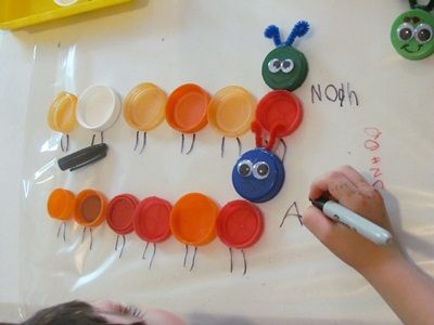 B is for Bugs  C is for Caterpillar  DIY Bugs on the sticky table | Teach Preschool