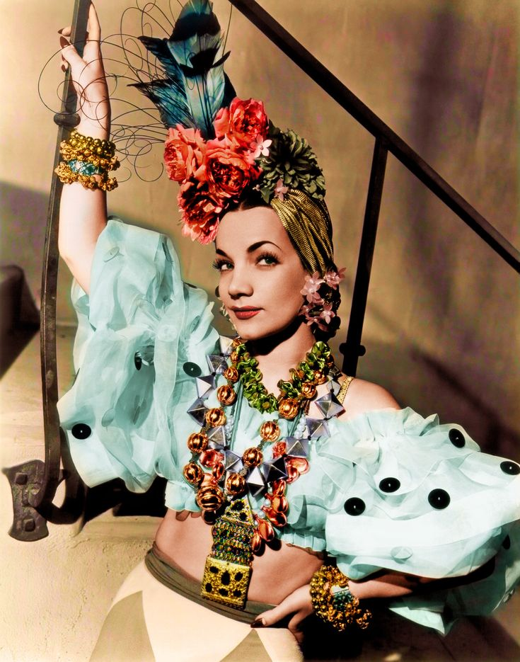 Carmen Miranda   Born Maria do Carmo Miranda da Cunha,  9 February 1909   Marco de Canaveses, Portugal     Died 5 August 1955 (aged 46)   Beverly Hills, California, USA