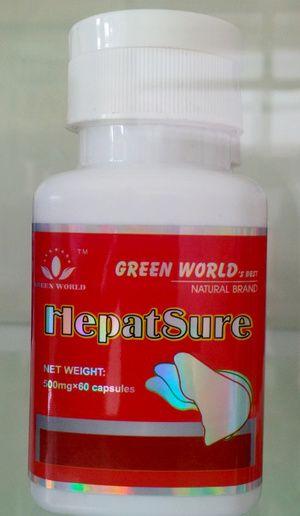 Obat hepatsure capsule green world herbal ini memiliki double action untuk melindungi dan menstabilkan sel hati, mempercepat regenerasi dan pemulihan sel-sel hati, meningkatkan dan memperbaiki fungsi hati, meningkatkan sekresi empedu, mengurangi peradangan, mencegah dan mengeluarkan zat beracun, bakteri, virus dan berbagai radikal bebas dari dalam hati, menghilangkan zat beracun serta lemak berlebih dari dalam hati dan mencegah fibrosi dan sirosis hati dengan secara alami dan aman.