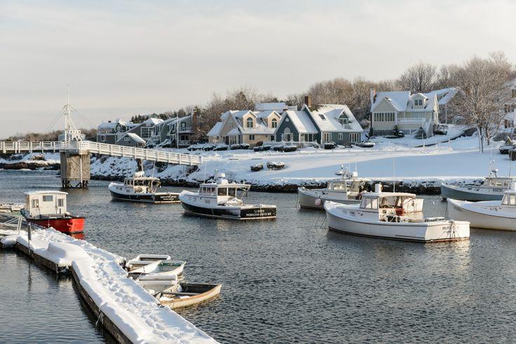 Ogunquit, Maine in Winter | Perkins Cove & Marginal Way