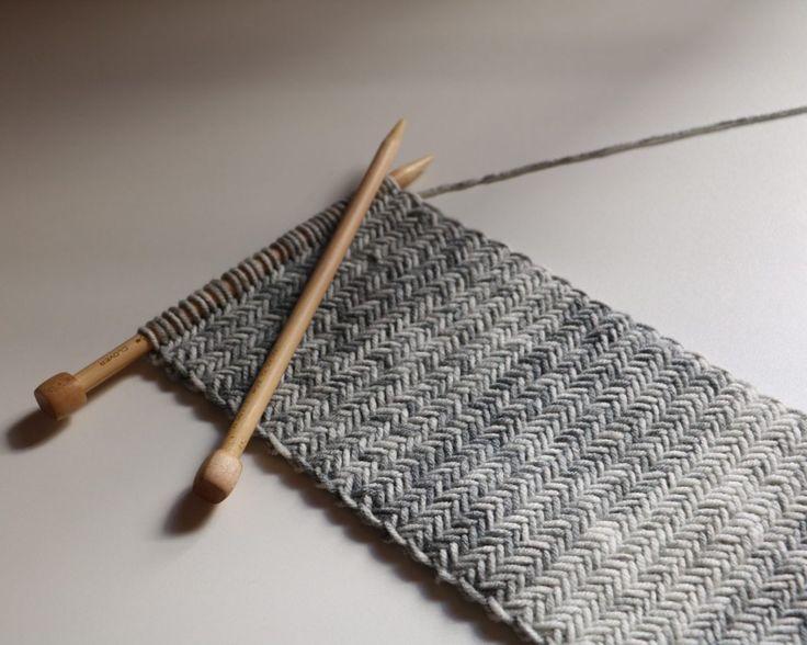 Lenço de malha de espinha de peixe