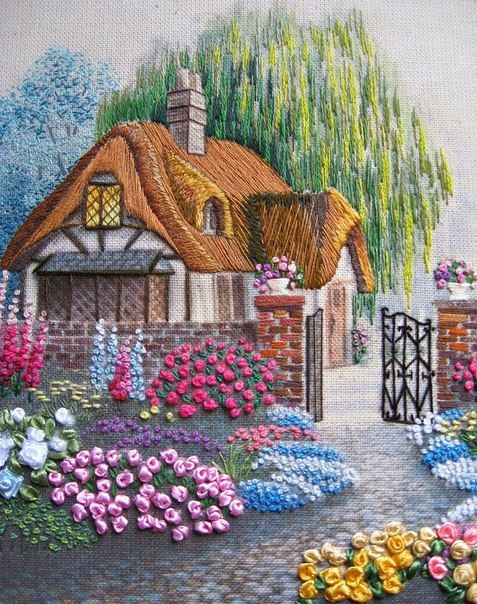Embroidered Cottage.