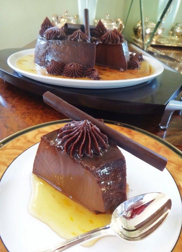 Pudim de chocolate com cobertura de ganache da Helena Gasparetto