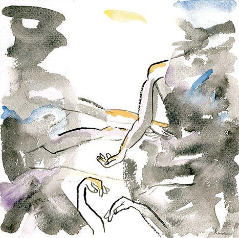 Lau Feliu » Crònica en Negre #Dibuix en #tinta i #llapis #Drawing in #ink and #pencil