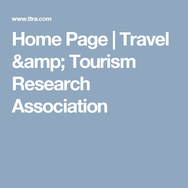 Home Page | Travel & Tourism Research Association