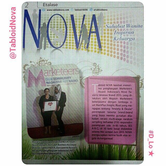 Kenangan ketika masih di Kompas Gramedia Grup Tabloid Nova 2013