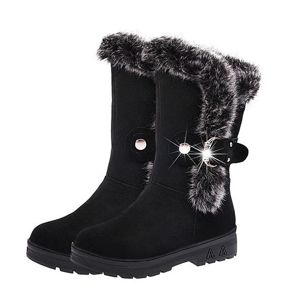 Trendy High Quality Women Winter Boots Ankle Short Boots Artificial Fur Snow Boots