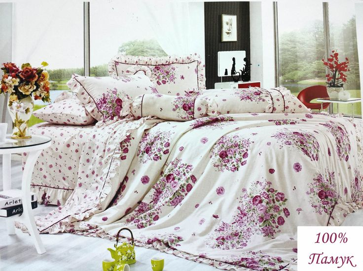 #flowers #bedding set #cotton #design #comfortable #pink #fresh