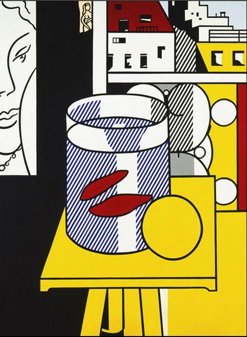 """Roy Lichtenstein """"Still Life with Goldfish,"""" 1974"""