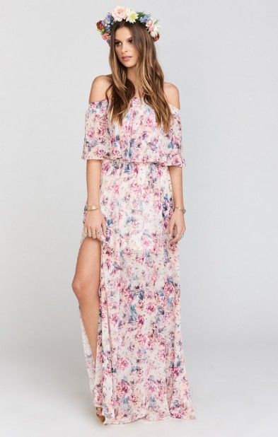 Hacienda Maxi Dress ~ Wedding Shoes Floral | Show Me Your MuMu