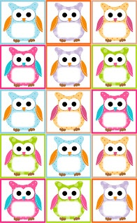 (Free Owl Label Templates)