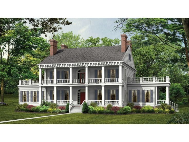 Floor Plan AFLFPW19476 Is A Beautiful 3833 Square Foot + Plantation Home  Design With 2 Garage