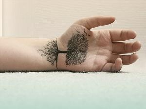 tree of life on your hand tattoo