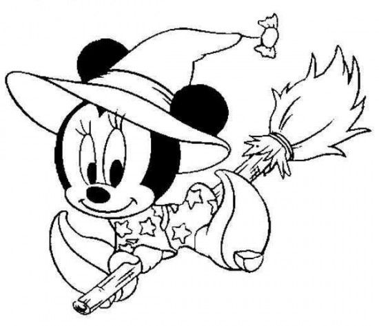 disney halloween mickey coloring sheet for kids picture 30 550x473 picture - Disney Baby Mickey Coloring Pages