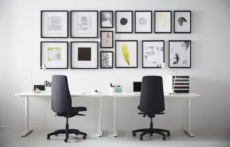 25 beste idee n over bureau decoraties op pinterest werktafel inrichting bureauruimte en - Decoratie interieur trap schilderij ...